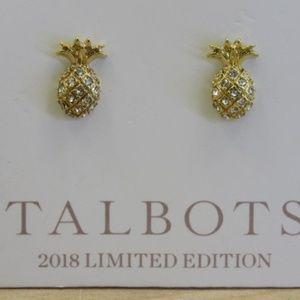 Talbots 2018 LTD ED Crystal Pineapple Stud Earring